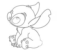 Stitch 2 Coloring Page
