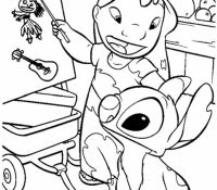 Stitch 34 Coloring Page