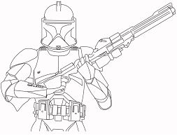 Stormtrooper - Star Wars 1 Coloring Page