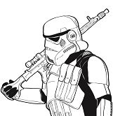 Stormtrooper - Star Wars Coloring Page