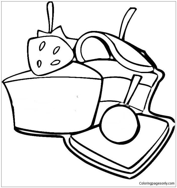 Strawberry Sweets Coloring Pages