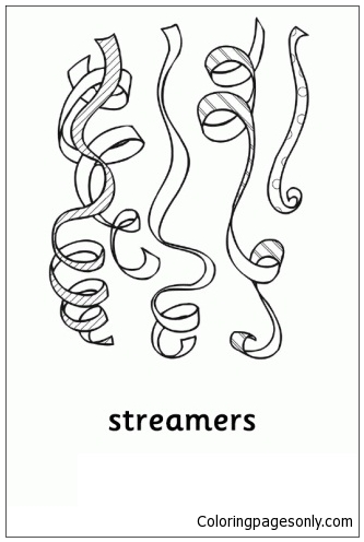 Streamers Coloring Page
