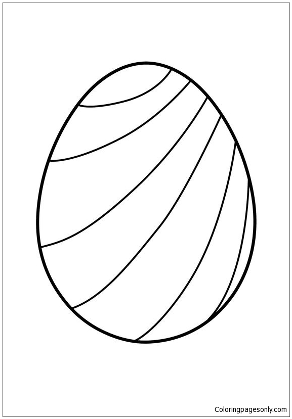 Striped Easter Egg Coloring Page