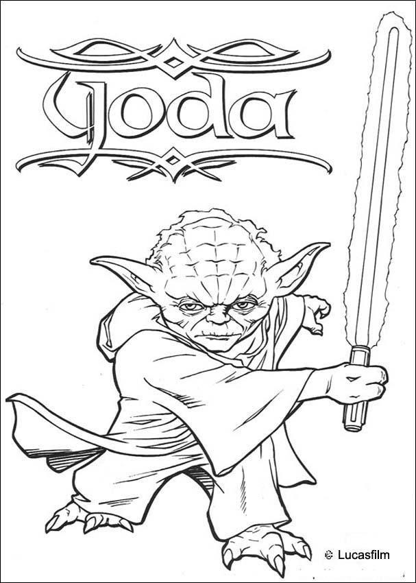 Strong Yoda Coloring Page