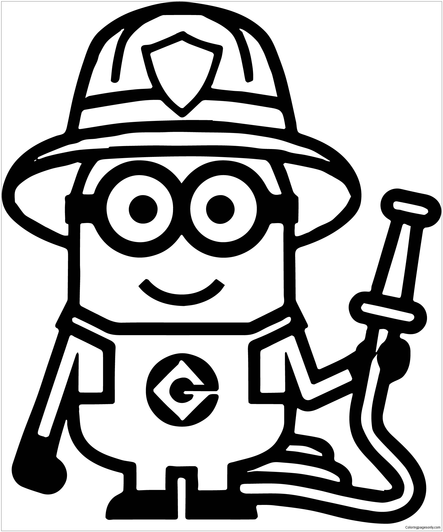 Stuart Minion Coloring Page - Free Coloring Pages Online
