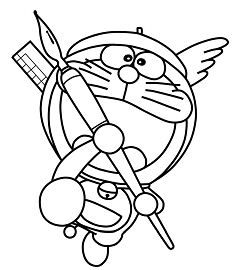 Stunning Doraemon Coloring Page