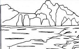 Stunning Mountain Coloring Page