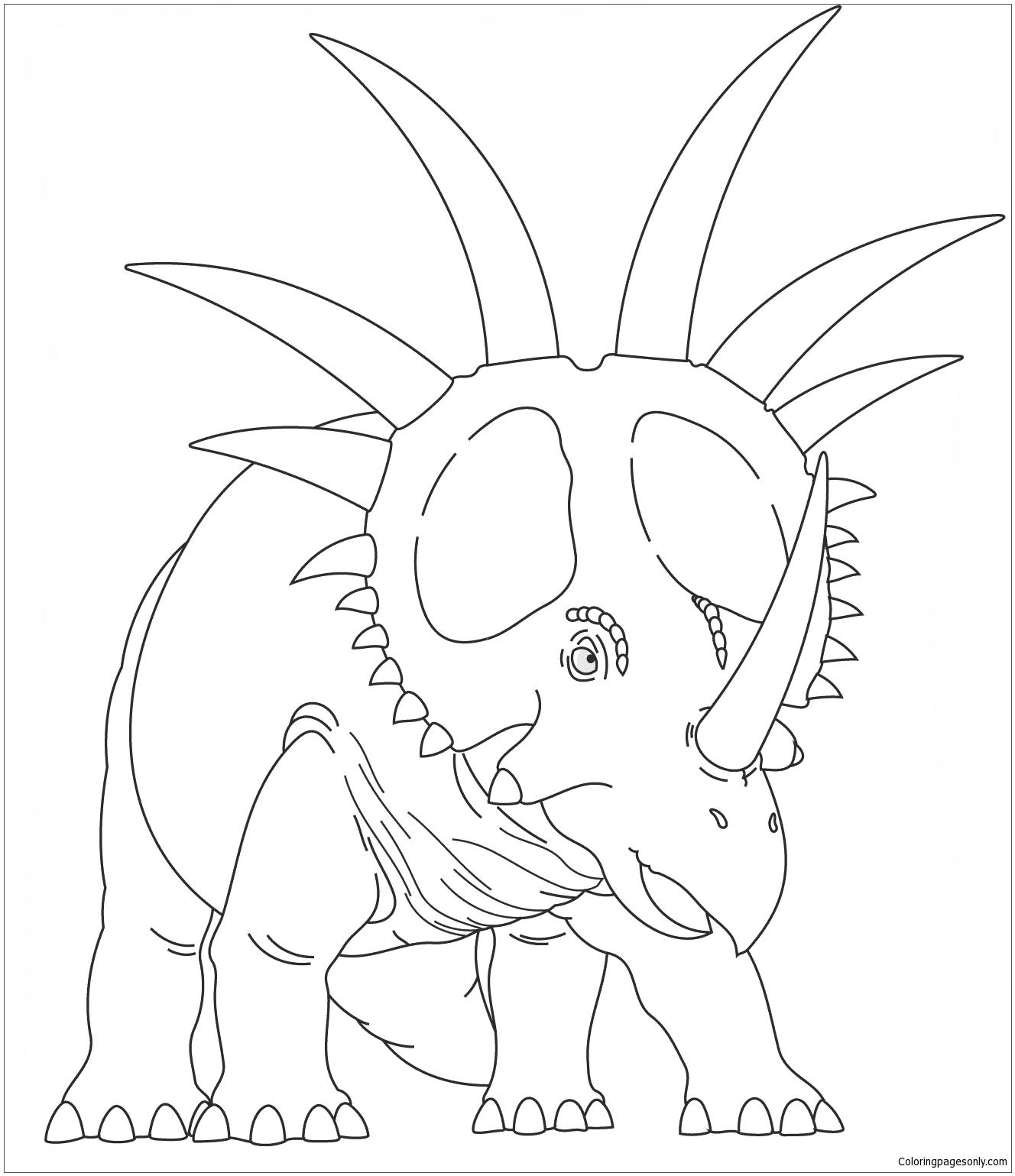 Styracosaurus 2 Coloring Page