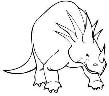 Styracosaurus Cretaceous Period Dinosaur Coloring Page
