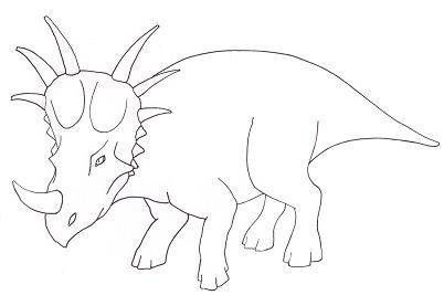 Styracosaurus Dinosaur 1 Coloring Page