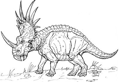 Styracosaurus Dinosaur 2 Coloring Page