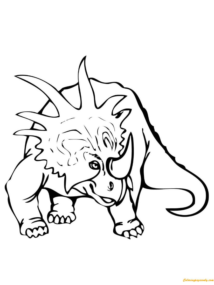Styracosaurus Dinosaur Coloring Page