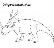 Styracosaurus Dinosaurs 4 Coloring Page