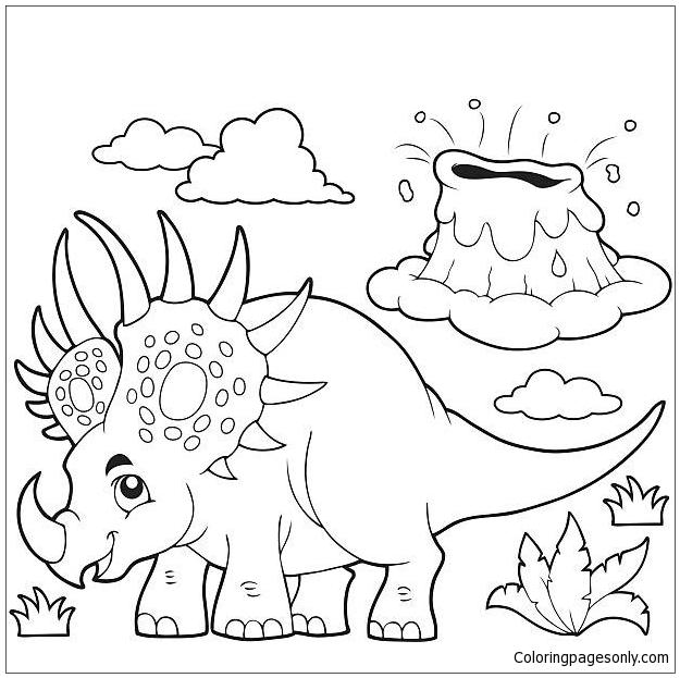 Styracosaurus Dinosaurs 5 Coloring Page
