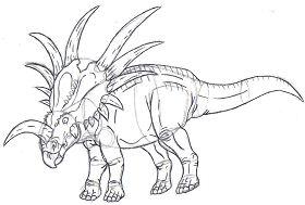 Styracosaurus Sketch Coloring Page