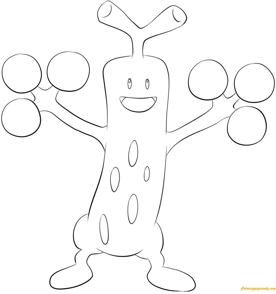 Sudowoodo Pokemon Coloring Page Free Coloring Pages Online