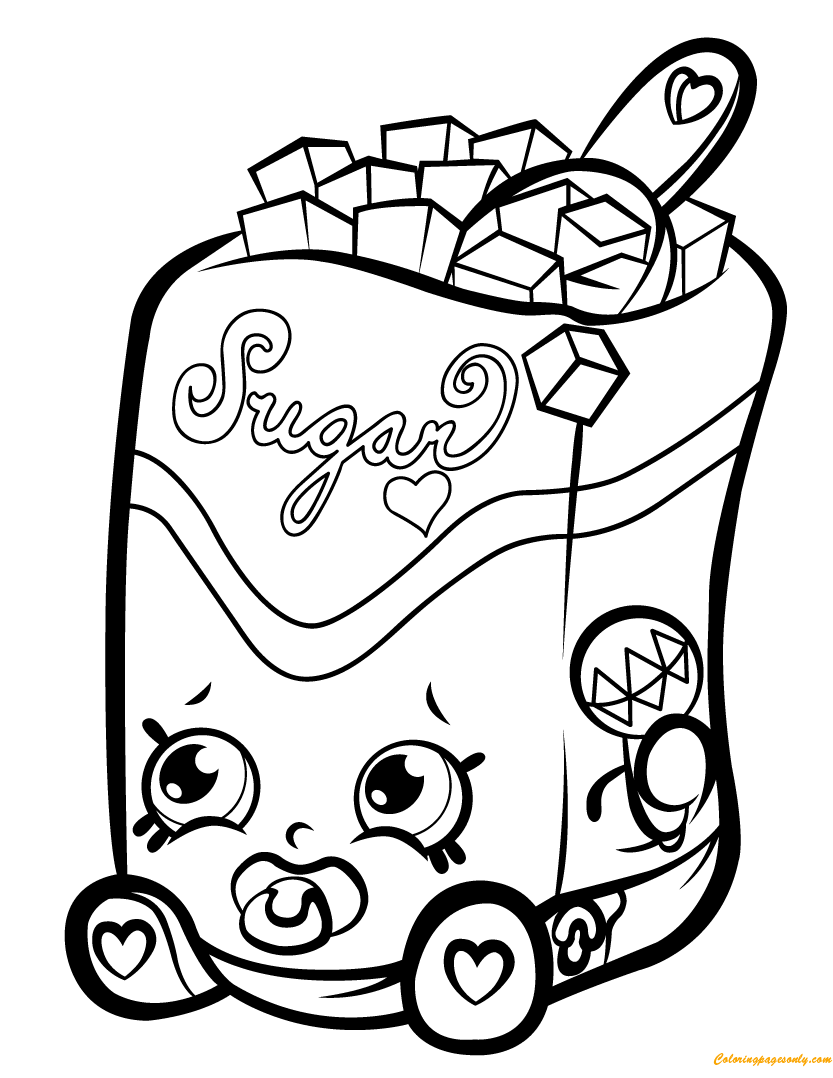 Sugar Lump Shopkin Season 1 Coloring Page Free Coloring