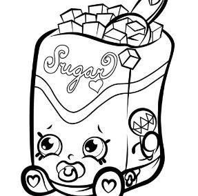 Sugar Shopkins Coloring Page