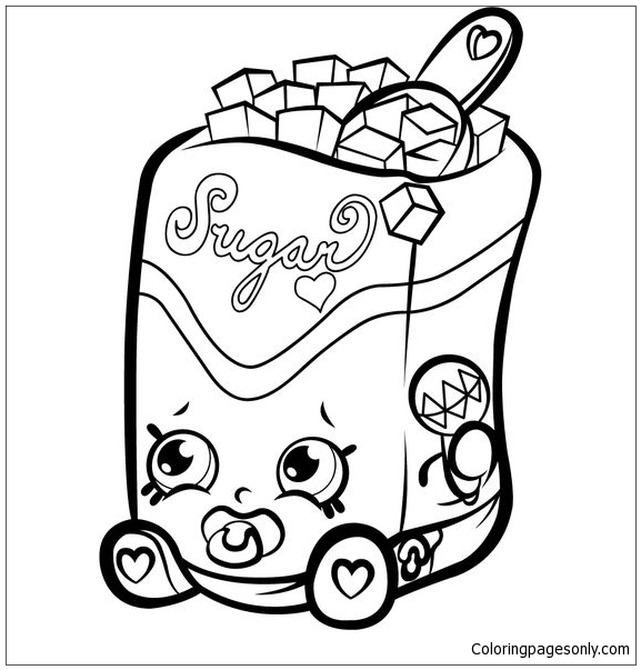 Sugar Shopkins Coloring Page - Free Coloring Pages Online