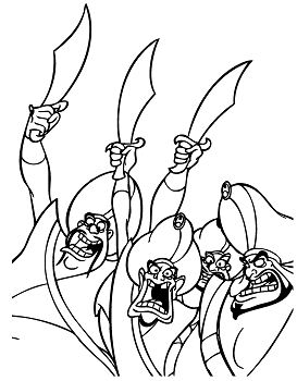 Sultan Soldiers Coloring Page