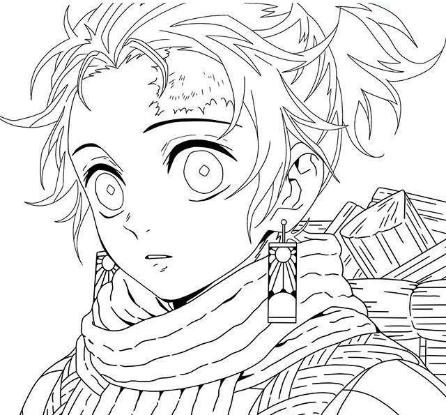 Sumiyoshi Kamado Coloring Page