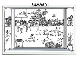 Summer Sence Coloring Page