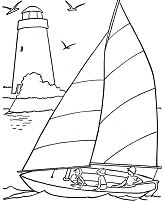 Summer Beach 3 Coloring Page