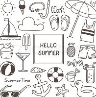 Summer Doodles Coloring Page