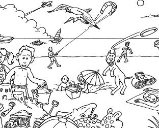 Summer Fashion Barbie Barbie Goes To The Beach Printable Coloring Page