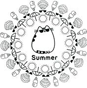 Summer Themed 1 Coloring Page