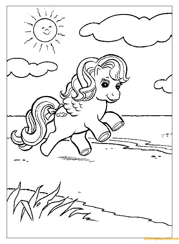 summer vacation for pony coloring page - Coloring Pages Summer Vacation