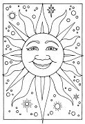 Sun 1 Coloring Page