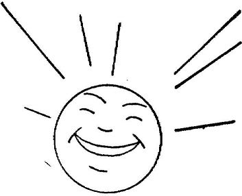 Sun Is Happy Coloring Page