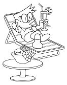 Suneo are relaxing Coloring Page