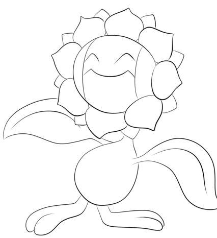 Sunflora Pokemon Coloring Page