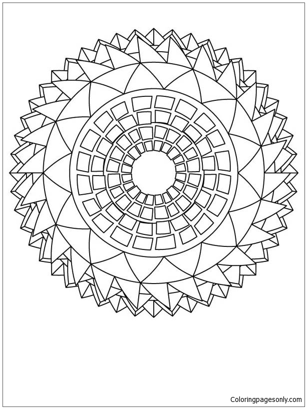 Sunflower Mandala Coloring Page Free Coloring Pages Online