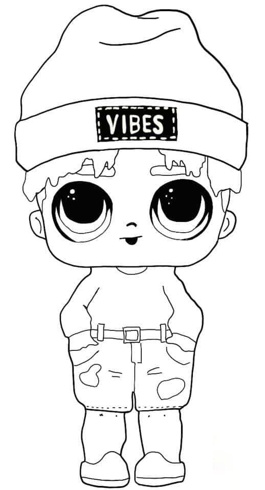 Lol Suprise Doll Sunny Vibes Coloring Page