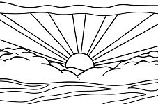 Sunrise by Roy Lichtenstein Coloring Page