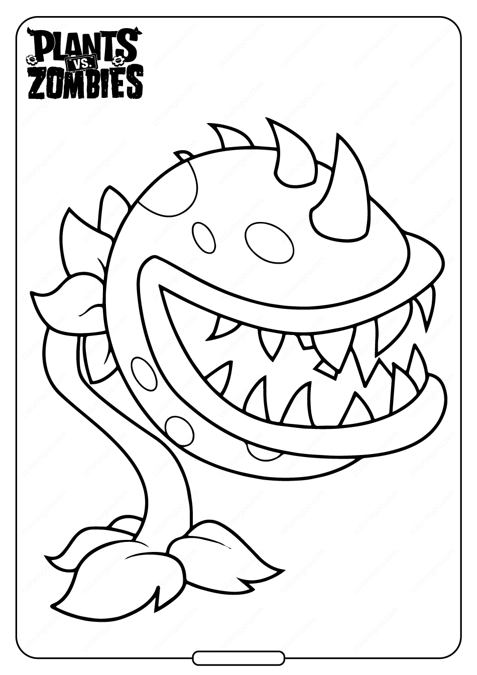 Super Chomper Coloring Page