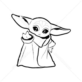 Super Cute Yoda Coloring Page