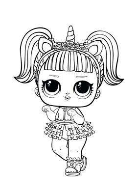 Super Lol Surprise Doll Coloring Page