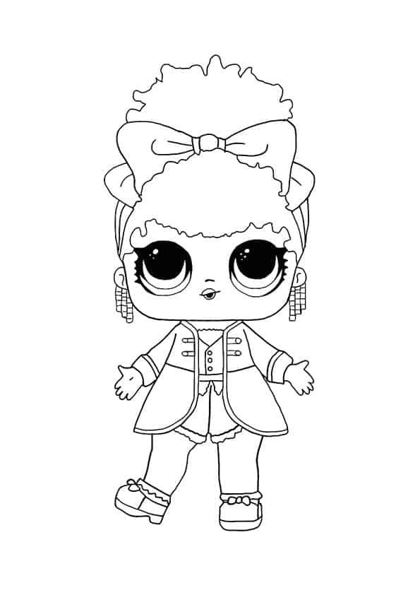 Lol Suprise Doll Super Star Coloring Page