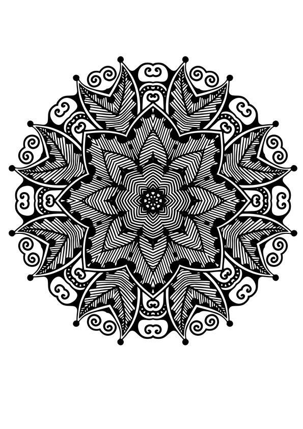 Superbes Mandalas Tres Complexe