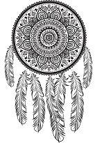 Superbes Mandalas Tribal Indien
