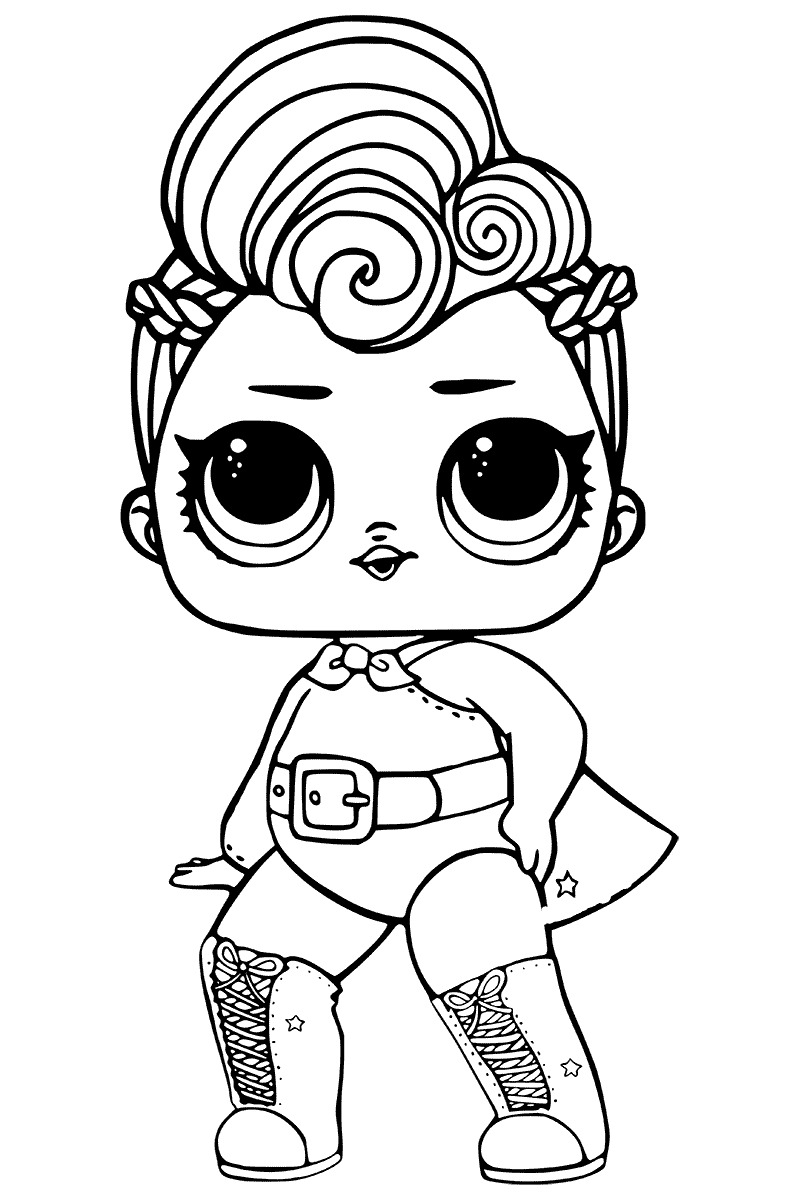 Lol Suprise Doll Supergirl Coloring Page