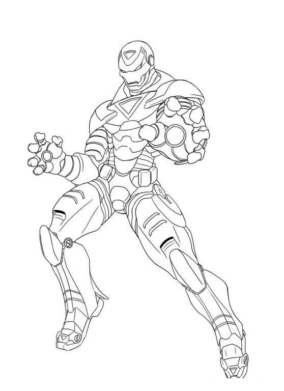 Superhero Iron Man Avengers Coloring Page