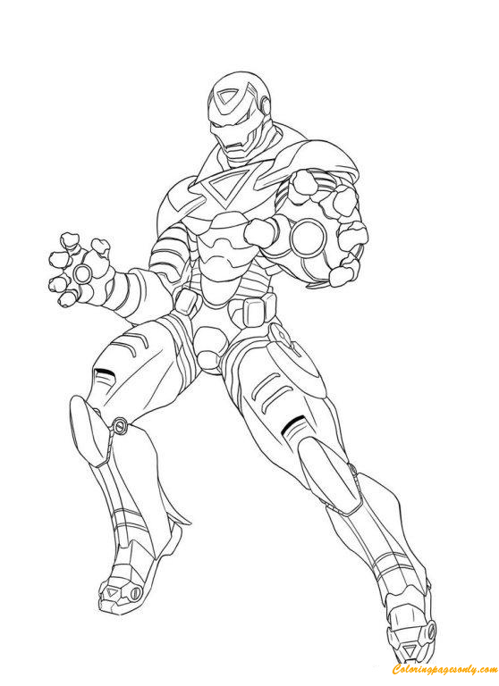 Superhero Iron Man Avengers Coloring Page - Free Coloring Pages Online
