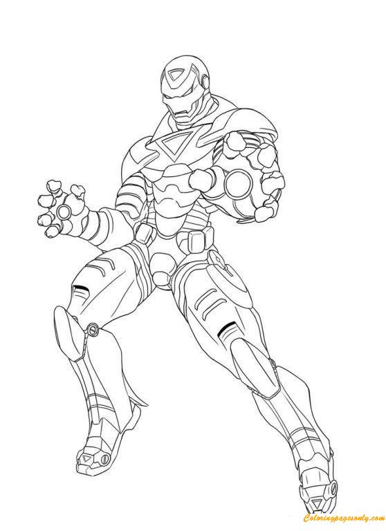 Superhero Iron Man Avengers Coloring Pages - Cartoons ...