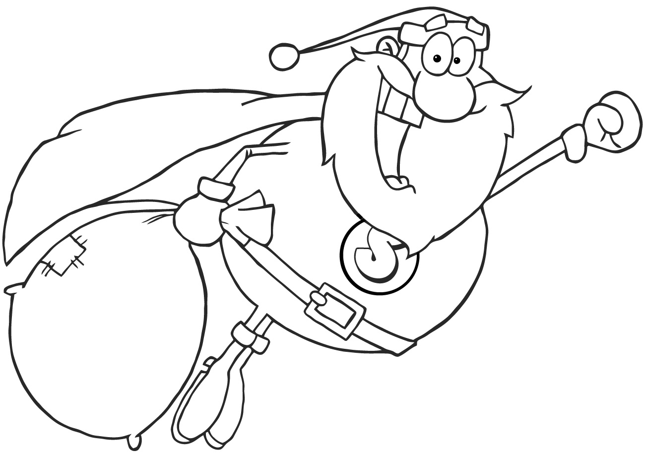 Superhero Santa Claus Fly