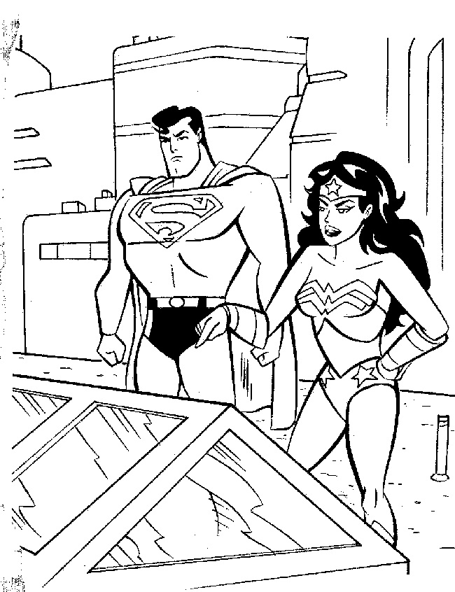 Superman And Wonderwoman Discussing